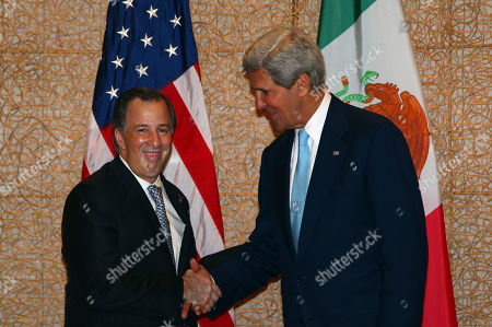 John Kerry U.S. Secretary of State John Kerry shakes hand with Mexican Foreign Minister Jose Antonio Meade Kuribrena during a bilateral meeting on the sidelines of the Asia-Pacific Economic Cooperation (APEC) summit in Bali, Indonesia