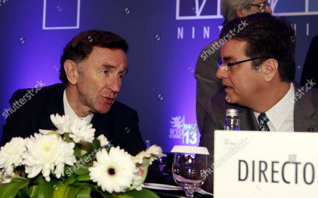 Lord Stephen Green, Roberto Azevedo British Trade and Investment Minister, Stephen Green, left, talks with World Trade Organization (WTO) Director General Roberto Azevedo, of Brazil, right, during the plenary session of the WTO ninth Ministerial Conference in Bali, Indonesia