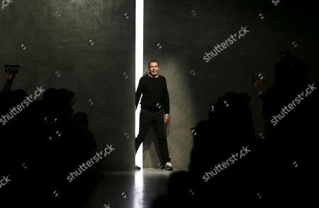 German designer Tomas Maier after showing Bottega Veneta women's Spring-Summer 2014 collection, part of the Milan Fashion Week, unveiled in Milan, Italy