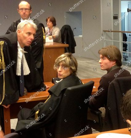 Raffaele Sollecito, Ciulia Bongiorno, Carlo Dalla Vedova Taken with a mobile phone, former American exchange student Amanda Knox's Italian ex-boyfriend Raffaele Sollecito, right, sits with his lawyer Giulia Bongiorno, center, as Knox's lawyer Carlo Dalla Vedova speaks to them ahead of a hearing in Sollecito and Knox's trial at an appeals court in Florence, Italy. Knox spent four years in jail in Italy, from her arrest to her conviction in her first murder trial through her successful appeal. She's now facing a second appeals trial, along with Sollecito