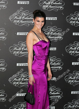 American model Summer Rayne Oakes poses at the 2014 Pirelli Calendar red carpet event in Milan, Italy, . The calendar debuted in 1964 as a racy way of promoting Italian tire maker Pirelli and has since grown into a fashion institution