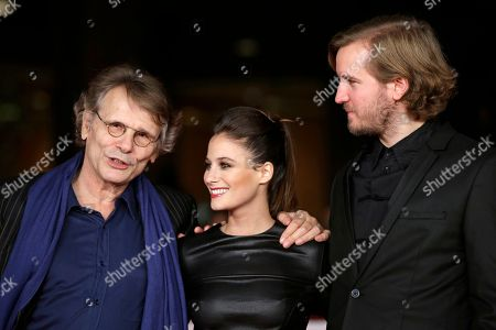 Daniel Pennac, Me´lanie Bernier, Nicolas Bary From left, writer Daniel Pennac, actress Melanie Bernier and director Nicolas Bary pose for photographers as they arrive for the screening of the movie 'Au bonheur des ogres', at the 8th edition of the Rome International Film Festival, in Rome
