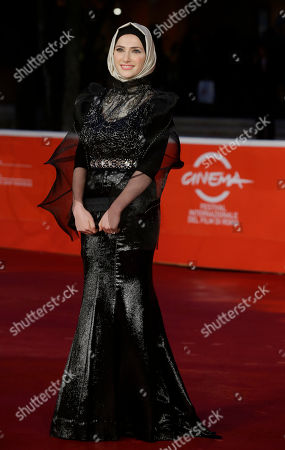 Sara El Debuch Actress Sara El Debuch poses for photographers during the red carpet for the movie 'Border', at the 8th edition of the Rome International Film Festival, in Rome, . (AP Photo