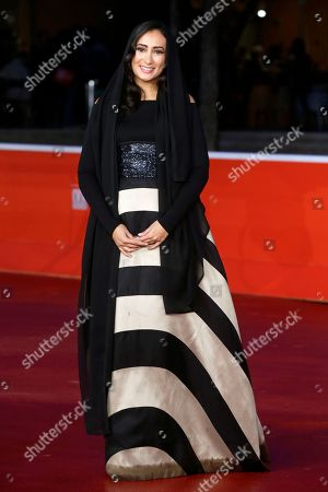 Actress Dana Keilani poses for photographers during the red carpet for the movie 'Border', at the 8th edition of the Rome International Film Festival, in Rome, . (AP Photo