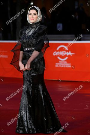 Actress Sara El Debuch poses for photographers during the red carpet for the movie 'Border', at the 8th edition of the Rome International Film Festival, in Rome, . (AP Photo