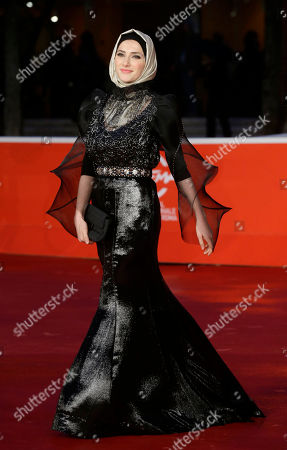 Sara El Debuch Sara El Debuch poses for photographers during the red carpet for the movie 'Border', at the 8th edition of the Rome International Film Festival, in Rome, . (AP Photo