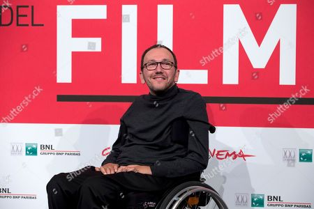 Director Mirko Locatelli poses for photographers during the photo call for the movie 'I corpi estranei', at the 8th edition of the Rome International Film Festival, in Rome