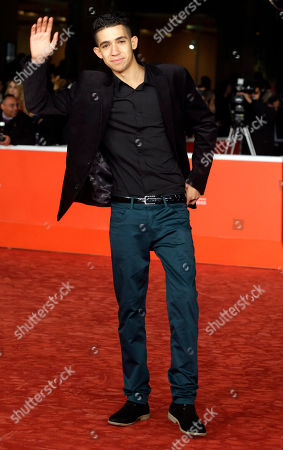 Stock Image of Jaouher Brahim Actor Jaouher Brahim poses for photographers during the red carpet for the movie 'I Corpi Estranei', at the 8th edition of the Rome International Film Festival, in Rome, . (AP Photo
