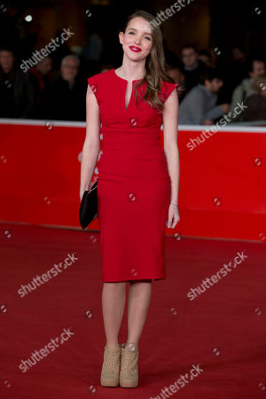 Actress Maja Dybboe poses on the red carpet as she arrives for the screening of the movie 'Sorrow and joy', at the 8th edition of the Rome International Film Festival, in Rome