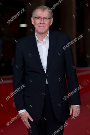Director Nils Malmros poses on the red carpet as he arrives for the screening of the movie 'Sorrow and joy', at the 8th edition of the Rome International Film Festival, in Rome