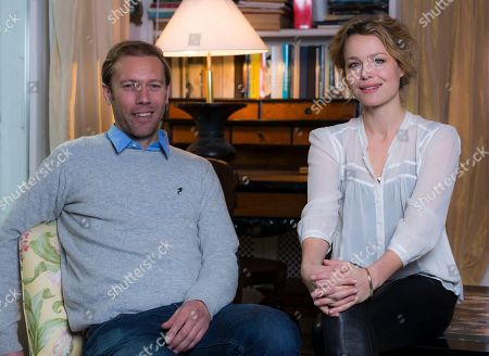 Jakob Cedergren, Helle Fagralid From left, actors Jakob Cedergren and Helle Fagralid pose for portraits at the 8th edition of the Rome International Film Festival in Rome, . Cedergren and Fagralid are presenting their latest movie 'Sorrow and joy