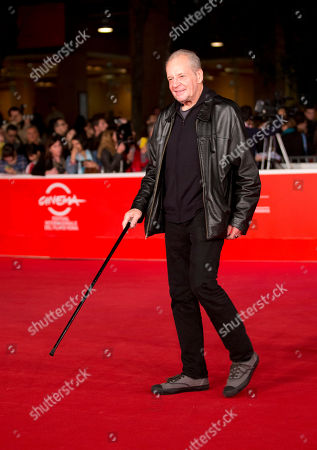 """U.S. director Larry Clark arrives for the screening of the movie """"The fifth wheel"""" opening the 8th edition of the Rome International Film Festival in Rome"""