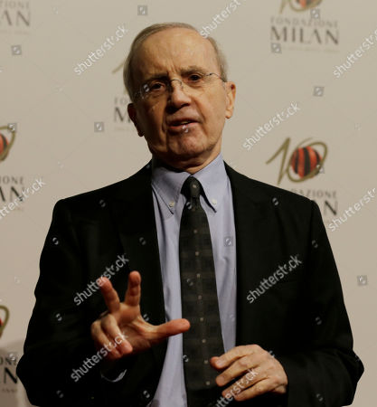 Basketball former trainer Dan Peterson arrives to attend the 'Foundation Milan', 10 years anniversary party in Milan, Italy, . Milan Foundation is a public charity that is tied to the Milan Group's wider context of responsibility and sustainability
