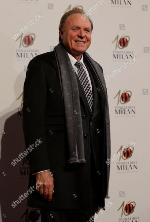 Italian entrepreneur Ennio Doris arrives to attend the 'Foundation Milan', 10 years anniversary party in Milan, Italy, . Milan Foundation is a public charity that is tied to the Milan Group's wider context of responsibility and sustainability
