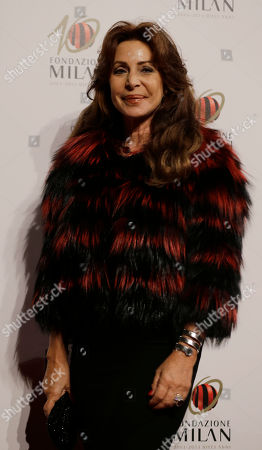 Marta Brivio Sforza arrives to attend the 'Foundation Milan', 10 years anniversary party in Milan, Italy, . Milan Foundation is a public charity that is tied to the Milan Group's wider context of responsibility and sustainability