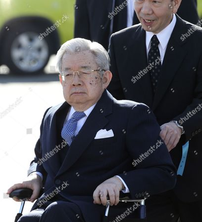 Hitachi Prince Hitachi appears to see off Emperor Akihito at Tokyo's Haneda international airporin Tokyo