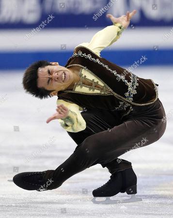 Nobunari Oda Nobunari Oda of Japan performs during the free skating of the ISU Grand Prix Final figure skating in Fukuoka, western Japan