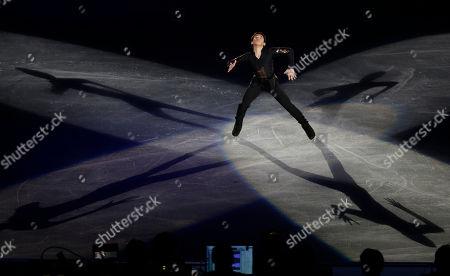 Nobunari Oda Nobunari Oda of Japan performs during the gala exhibition at the NHK Trophy Figure Skating in Tokyo