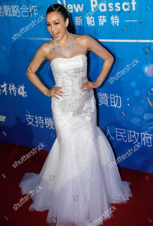 Christy Chung Canadian actress Christy Chung arrives at the 10th Huading Awards ceremony in Macau