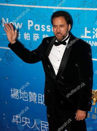 Nicholas Cage Actor Nicholas Cage arrives at the 10th Huading Awards ceremony in Macau