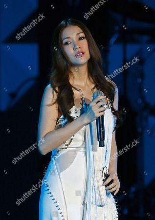 Stock Picture of Kay Tse Hong Kong singer Kay Tse performs during the 13th Global Chinese Music Awards in Kuala Lumpur, Malaysia
