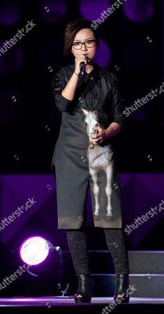Zhou Bichang Chinese singer Zhou Bichang performs during the 13th Global Chinese Music Awards in Kuala Lumpur, Malaysia