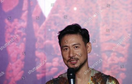 """Jacky Cheung Hong Kong singer Jacky Cheung speaks during a press conference of his concert album """"1/2 Century Tour"""" in Kuala Lumpur, Malaysia"""