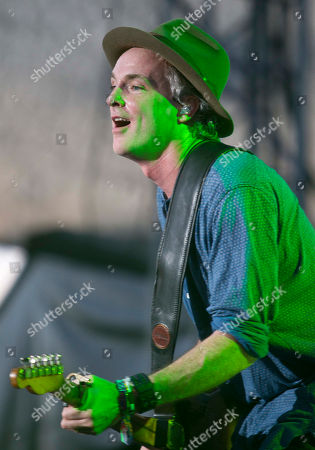 """Francis """"Fran"""" Healy Francis """"Fran"""" Healy from the Scottish rock band Travis, performs at the Corona Capital music festival in Mexico City"""