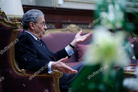 Amr Moussa Amr Moussa, the chairman of Egypt's 50-member panel tasked with amending Islamist-drafted constitution, talks during an interview with The Associated Press at the Shoura Council in Cairo, Egypt, . Egypt's veteran diplomat and liberal politician Moussa said a constitution drafted by a 50-member panel he chaired will offer unprecedented guarantees for democracy, individual freedoms and gender equality