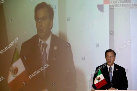 Jose Antonio Meade Kuribrena Mexico's Foreign Minister Jose Antonio Meade Kuribrena gives a press conference at the end of the Iberoamerican summit in Panama City, . The next summit is scheduled for the Mexican Gulf coast city of Veracruz in 2014