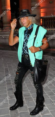 Multi-millionaire James F. Goldstein arriving at the Alaia exhibit Gala. French Tunisian born Fashion designer Azzedine Alaia, presented for the first Paris retrospective of couturier at the Museum of Modern Art in Paris
