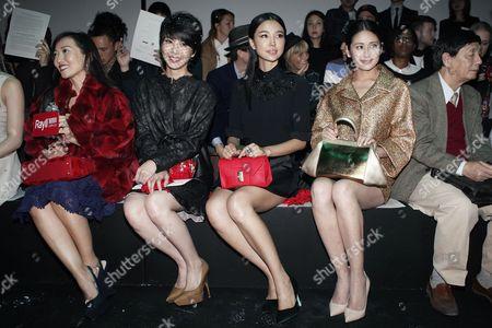 Xu Ruyun, Yao Xingtong From second left, singer Xu Ruyun and actress Yao Xingtong attend the presentation of Shiatzy Chen's ready-to-wear Spring/Summer 2014 fashion collection, in Paris