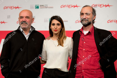 Tayfun Pirselimoglu, Ercan Kesal, Maryam Zaree From left, actors Ercan Kesal, and Maryam Zaree pose with director Tayfun Pirselimoglu during a photo call for the movie 'Ben o Degilim' (I'm not him) at the 8th edition of the Rome International Film Festival in Rome