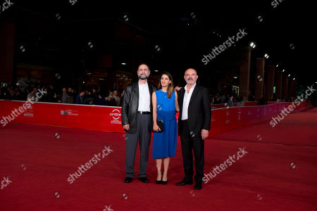 Tayfun Pirselimoglu, Maryam Zaree, Ercan Kesal From left, director Tayfun Pirselimoglu, and actors Maryam Zaree, and Ercan Kesal pose on the red carpet as they arrive for the screening of the movie 'Ben o Degilim' (I'm Not him) at the 8th edition of the Rome International Film Festival in Rome