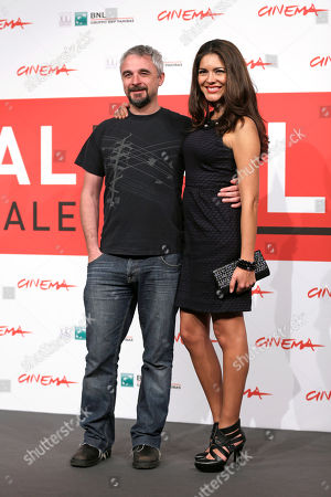 Tania Arredondo, Michael Rowe Director Michael Rowe, left, and actress Tania Arredondo pose during a photo call for the movie 'Manto Acuifero' at the 8th edition of the Rome International Film Festival in Rome