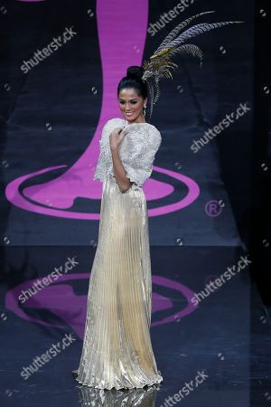 Miss Philippines Ariella Arida presents her outfit, during the national costume show at the 2013 Miss Universe pageant in Moscow, Russia, on . Beauties will compete for the title of Miss Universe in Moscow on Nov. 9