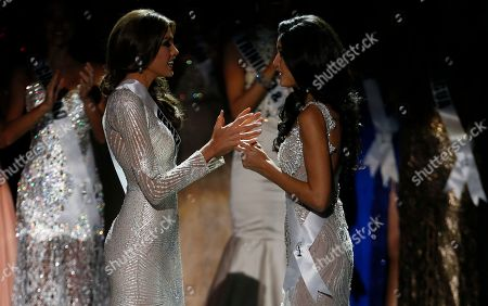 Gabriela Isler, Patricia Yurena Rodriguez Miss Venezuela Gabriela Isler, left, and Miss Spain Patricia Yurena Rodriguez wait for the judges final decision during the 2013 Miss Universe pageant in Moscow, Russia, on . Gabriela Isler won the Miss Universe 2013 title