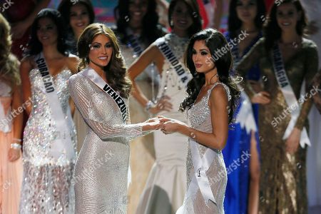 Gabriela Isler, Patricia Yurena Rodriguez Miss Venezuela Gabriela Isler, left, and Miss Spain Patricia Yurena Rodriguez wait for the final decision in the 2013 Miss Universe pageant final in Moscow, Russia, on . Gabriela Isler won Miss Universe 2013 title