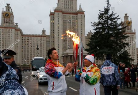 Editorial picture of Russia Sochi Torch Relay, Moscow, Russia