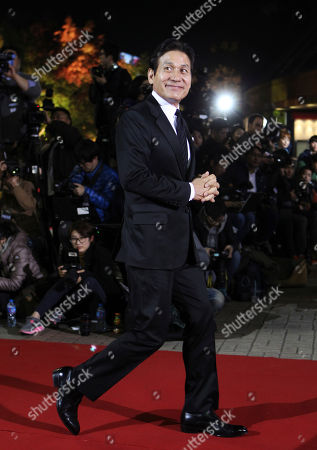 Ahn Sung-ki South Korean actor Ahn Sung-ki arrives to attend the Daejong Film Festival in Seoul, South Korea