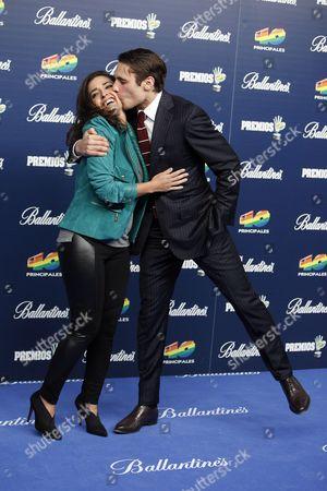 Inma Cuesta, Martin Rivas Spanish actors Inma Cuesta, left, and Martin Rivas pose during the photocall in '40 Principales Awards 2013' in Madrid, Spain