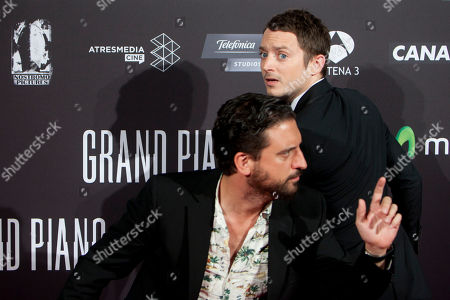 Eugenio Mira, Elijah Wood Spanish director Eugenio Mira (L) and U.S. actor Elijah Wood (R) pose at the premiere of the film 'Grand Piano' at the Callao cinema in Madrid, Spain