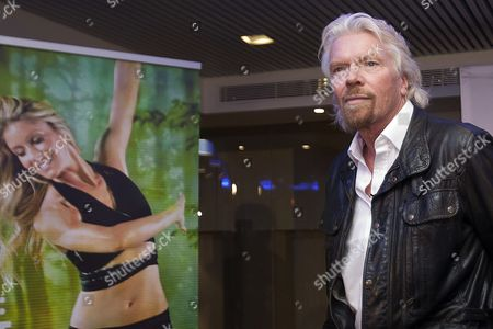 Beto Perez, Richard Branson Sir Richard Branson visit a Zumba Step dance class at Virgin installations in Madrid, Spain