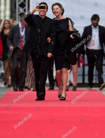 Annette Bening, Arie Posin US actress Annette Bening, centre right, with Canadian film director, Arie Posin, as they walk the red carpet for the 61st San Sebastian Film Festival, in San Sebastian, northern Spain on