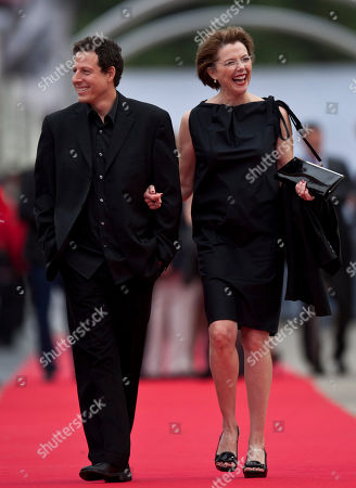Annette Bening, Arie Posin US actress Annette Bening, right, with Canadian film director, Arie Posin, as they walk the red carpet for the 61st San Sebastian Film Festival, in San Sebastian, northern Spain on