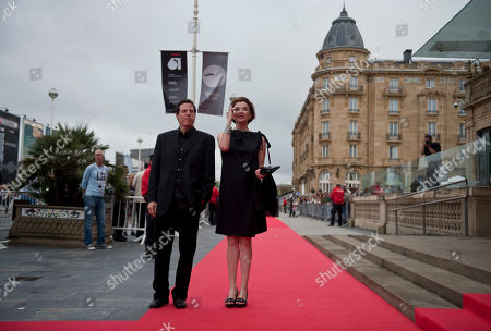 Annette Bening, Arie Posin US actress Annette Bening, centre right, with Canadian film director, Arie Posin, on the red carpet for the 61st San Sebastian Film Festival, in San Sebastian, northern Spain on