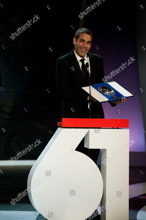 Stock Photo of Fernando Eimbcke Mexican film director Fernando Eimbcke speaks after receiving the Silver Shell for best director for his film ''Club Sandwich'' at the 61st San Sebastian Film Festival, in San Sebastian, northern Spain