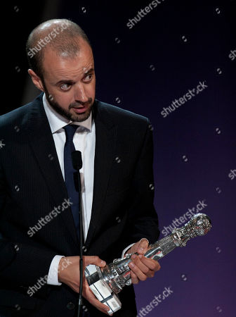 Fernando Franco Spanish film director Fernando Franco, gestures after received the Special Jury Prize with the film ''La Herida'' (Wounded), for the 61st San Sebastian Film Festival, in San Sebastian, northern Spain