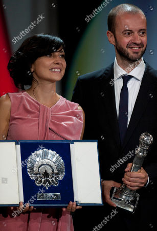 Marian Alvarez, Fernando Franco Spanish actress Marian Alvarez, left, smiles beside her film director, Fernando Franco of Spain (Special Jury Prize), after received the Silver Shell for the best actress with the film ''La Herida'' (Wounded), for the 61st San Sebastian Film Festival, in San Sebastian, northern Spain