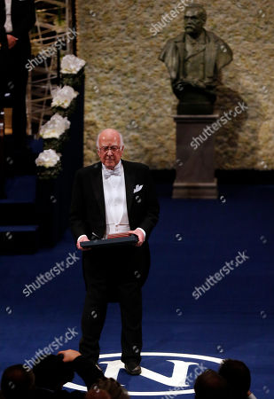 The 2013 Nobel Prize Laureate in Physics Britain's Peter Higgs after receiving his Nobel Prize from Sweden's King Carl XVI Gustaf, during the Nobel Prize award ceremony at the Stockholm Concert Hall in Stockholm, . The Nobel awards are always awarded on Dec. 10, the anniversary of Alfred Nobel's death in 1896. The prizes for laureates in medicine, chemistry, physics and literature are awarded in the Swedish capital Stockholm, whilst the Nobel Peace Prize is awarded on the same day in Oslo, Norway